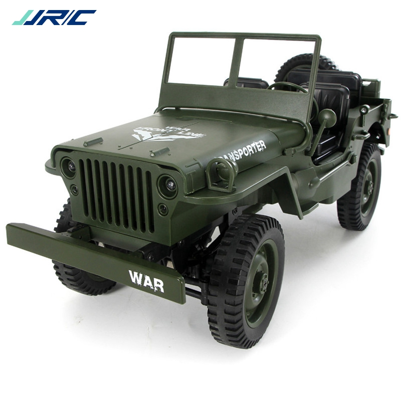 JJRC Q65 1:10 RC coche 2,4G 4WD lloguer de luz de Control remoto Jeep cuatro ruedas Off-Road militar juguete coche chico regalo