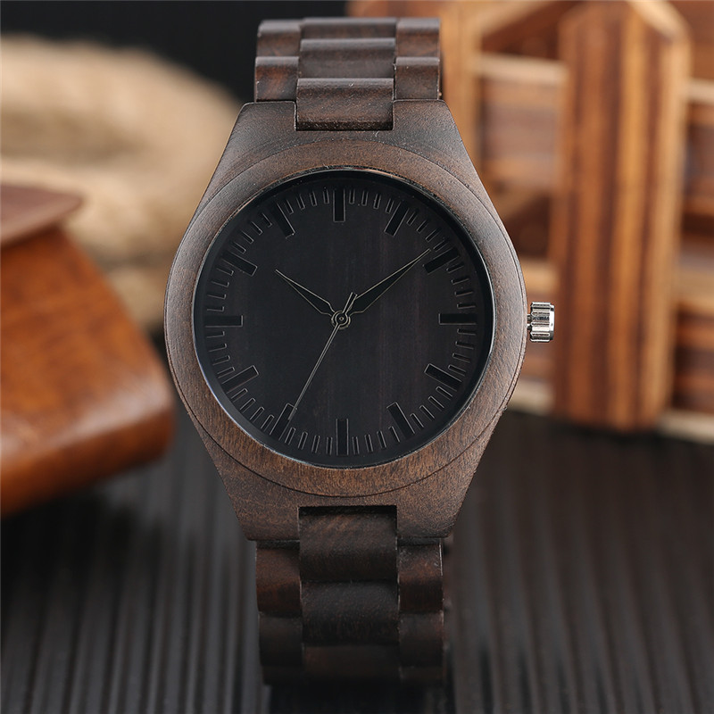 2017 Hot Entire Sandalwood Wristwatch Simple All-match Men Women Whole Wood Business Watch Analog Novel Wooden Clock Unique Gift