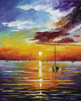 Framed diy digital painting by numbers pictures by number oil painting for living room 4050cm Harbour Sunset