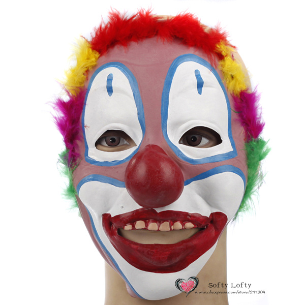 free shipping joker mask soft rubber cool funny scary halloween party costumes toy dress make up - Online Halloween Music
