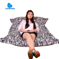 LEVMOON Beanbag Sofa Chair Magic Bag Seat Zac Comfort Bean Bag Bed Cover Without Filling Canvas