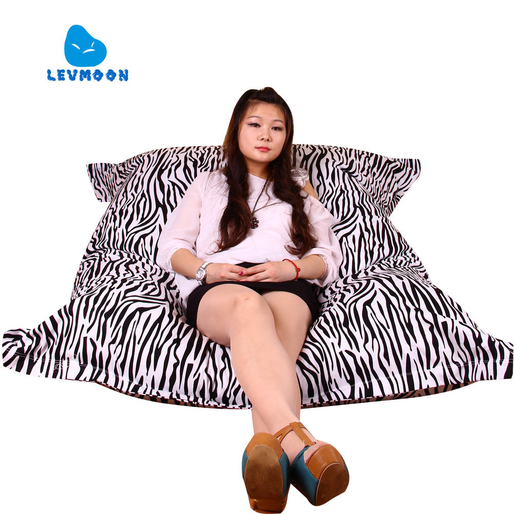 LEVMOON Beanbag Sofa Chair Magic Bag Seat Zac Comfort Bean Bag Bed Cover Without Filling Canvas Indoor Beanbags Lounge Chair crochet fringe sleeve open shoulder top