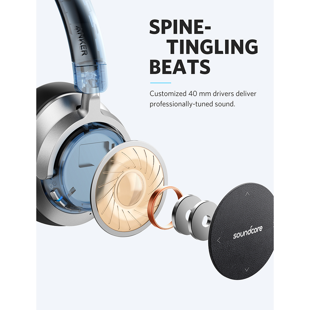 6212b267134 Anker SoundCore Space NC Wireless Noise Cancelling Headphones with Touch  Control, 20 Hour Playtime, Foldable Design -in Bluetooth Earphones &  Headphones ...