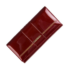 Genuine Leather long Wallet Cowhide Women's Wallets Clutch Long Design Purse Bags Handbag Fashion Women Purse Patent Leather
