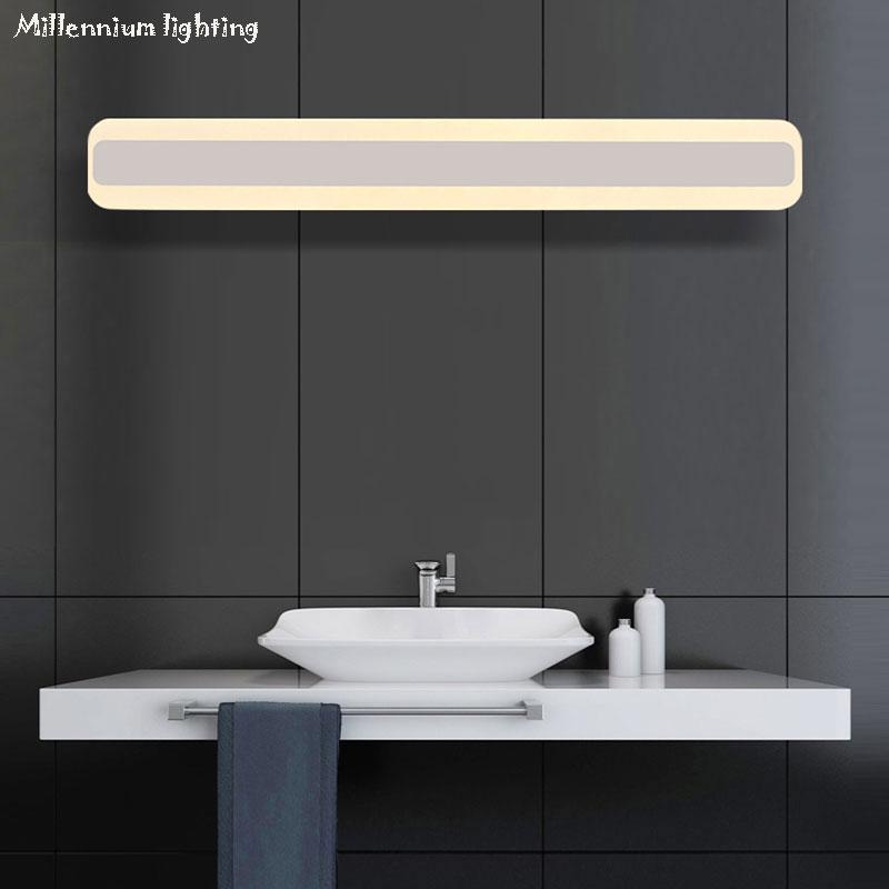 L mpara de pared led de iluminaci n de ba o luz delantera de espejo 40cm14w 50cm16w moderna de - Iluminacion bano led ...