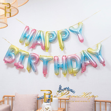 Happy Birthday Balloon Rose Gold Foil Balloons Adult Party Decorations Kids Baby Shower Infant Helium