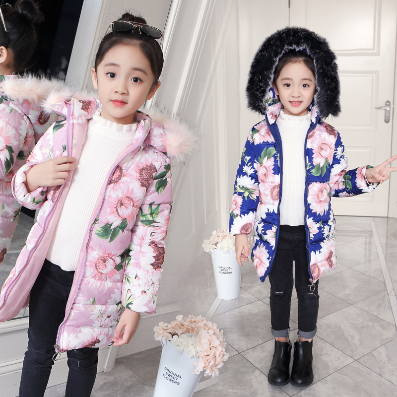 winter jackets for girls kids fashion floral printed girls parka coats thick fleece warm children girls jackets jomake winter jackets for girls kids fashion cute printed girls parka coats thick fleece warm children girls jackets fur hooded