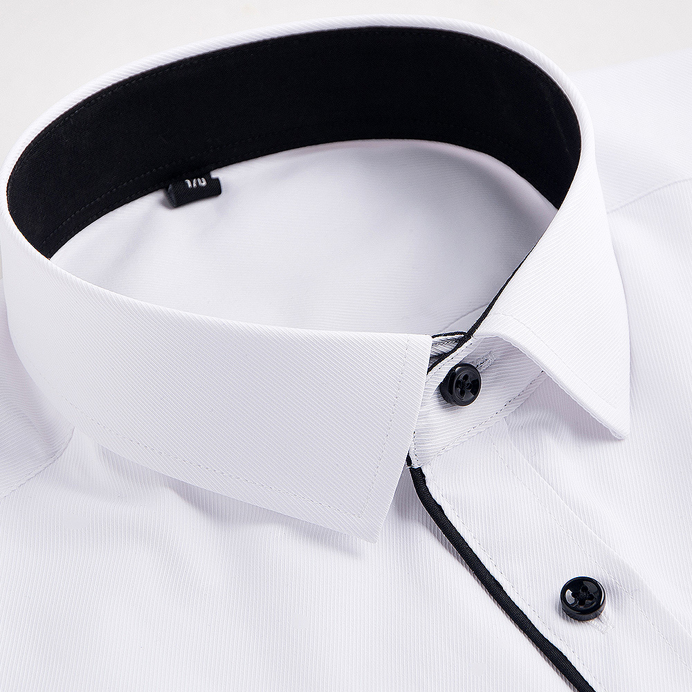 Recommend 20black button turn down collar long sleeve