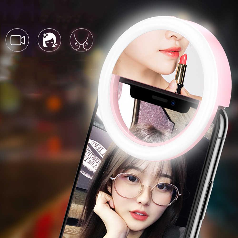 2019 新しい電話光サプリメント LED リング-タイマーランプミラーセルフタイマーセルフタイマー照明器具