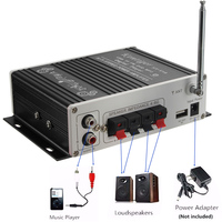 Black 12V Digital Mini Bluetooth HiFi Stereo Car Audio Amplifier AMP MP3 Player For Car Home Auto Interior Accessories