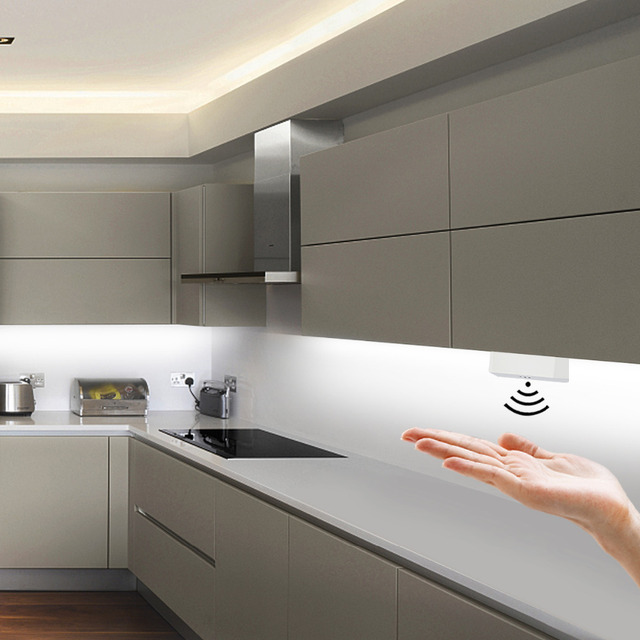 Dimmable חיישן מתג יד גל דימר 5A 12V/24V תנועה מתג עבור LED רצועת LED מנורת מטבח קבינט LED אורות אביזרים
