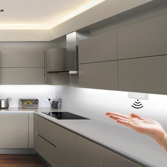 Możliwość przyciemniania przełącznik czujnikowy ściemniacz ręczny 5A 12V/24V przełącznik ruchu do taśmy LED lampa LED kuchnia szafka LED światła akcesoria