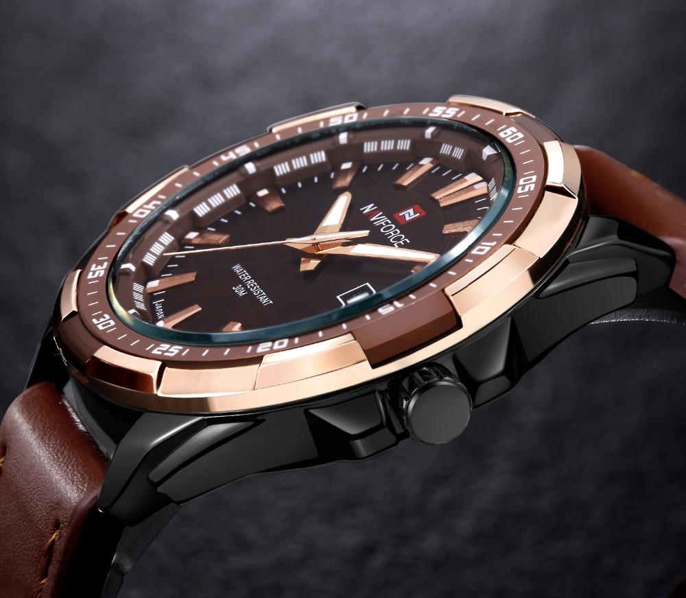 Mens Watches Top Brand Luxury NAVIFORCE Sport Men's Quartz Watch Waterproof Wristwatch Leather Male Clock Relogio Masculino 4