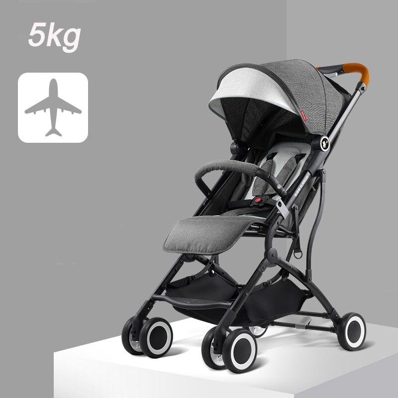 Zimą, jak i latem lekka spacerówka wózek składany wózek może siedzieć może leżeć ultralekki przenośny w samolocie