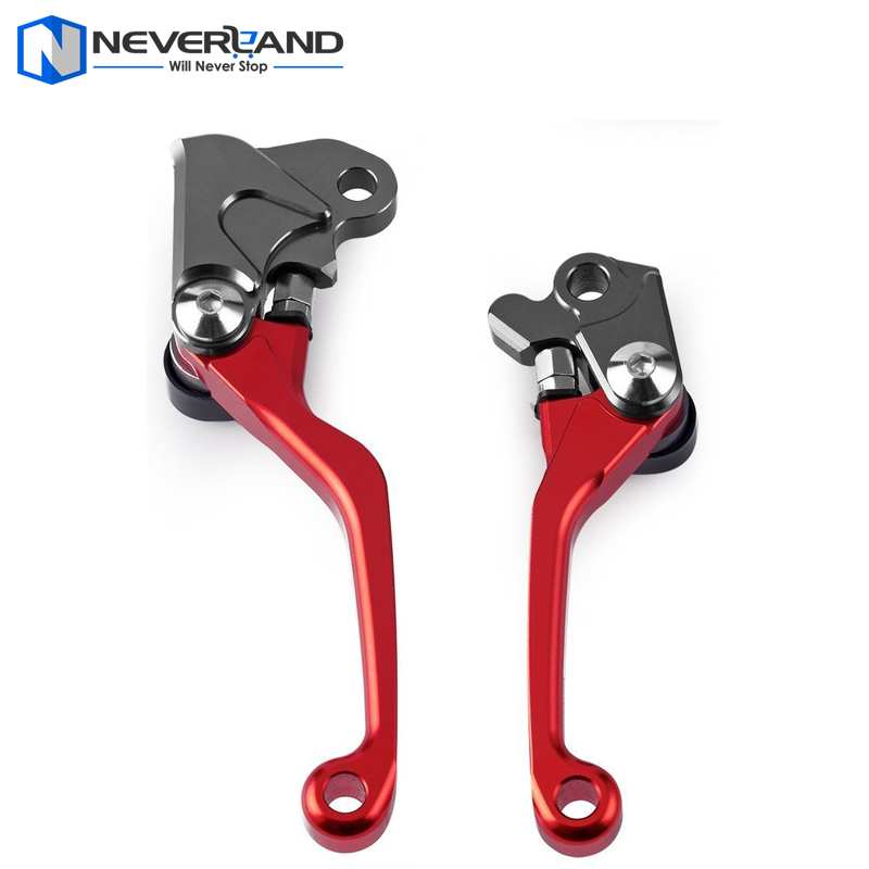 Red CNC Dirttbike Pivot Brake Clutch Levers for Honda CRF230F CRF 230F 2003 2004 2005 2006 2007 2008 2009 Motorcycle рычаги тросики и кабели для мотоцикла oem cnc honda cbf1000 2006 2007 2008 2009