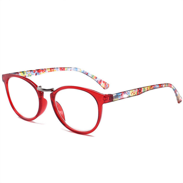 NYWOOH Men Women Reading Glasses Presbyopia Eyeglasses Fashion Flower Print 1.0 1.5 2.0 2.5 3.0 3.5 4.0 Diopter for Old People