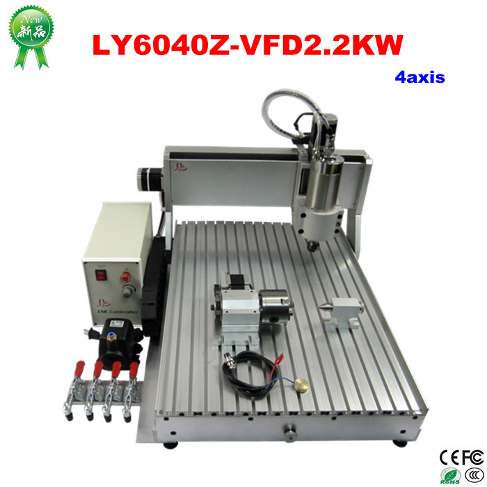 High Power CNC LY 6040Z-VFD2.2KW 4Axis 110V/220V Universal CNC Equipment for Small Business at Home production equipment for the small business wax for depilation 2pcs pocket super power hearing aids v 99 drop shipping