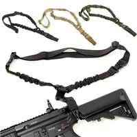 Abay Military Tactical Gun Sling Single Point Bungee Rifle Strap Shooting Hunting Accessories One Point Airsoft Gun Rope