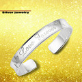 Free Shipping Hot Sale Fashion New Platinum Love Forever Cuff Bangle Stainless Steel Letter Bangles For Women AT009