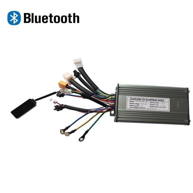 Controlador de bicicleta eléctrica con Bluetooth KT, controlador de onda sinusoidal/modo Dual para Motor de bicicleta eléctrica sin escobillas de 36V/48V 250W 2000W