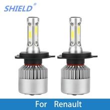 цена на Car Headlight Bulb LED H1 H7 H4 9005 12V Auto Light  For Renault Trafic/Stepway/Scenic/Scala/Sandero/Safrane/Megane/Logan/Laguna