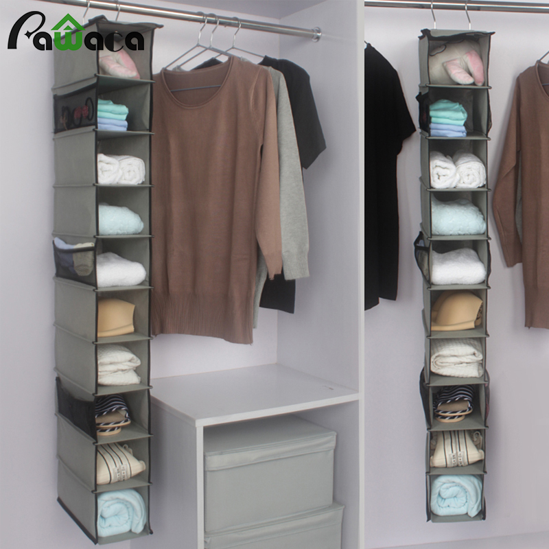 10 Pockets Hanging Storage Bag For Clothes Shoes Handbag Organizer Box  Shelves Holder Closet Cubby Home Wardrobe Wall Door Rack In Storage Bags  From Home ...