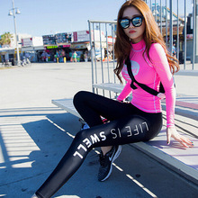 2 piece set women's tracksuits twinset plus size 2016 Autumn Fashion elastic sportswear suits set ladies Skinny track suit Girls