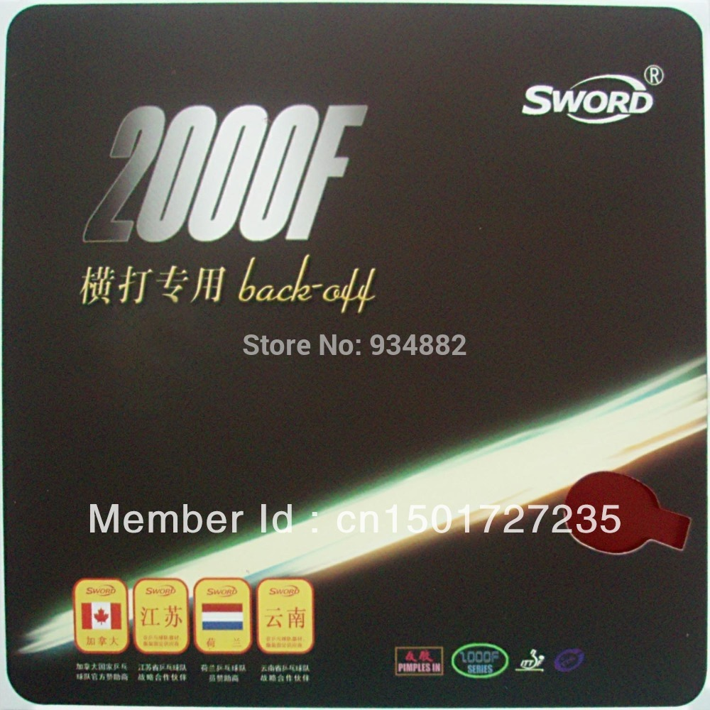 Sword 2000F Back-off (Loop Type) Pips-In Table Tennis (PingPong) Rubber With Sponge