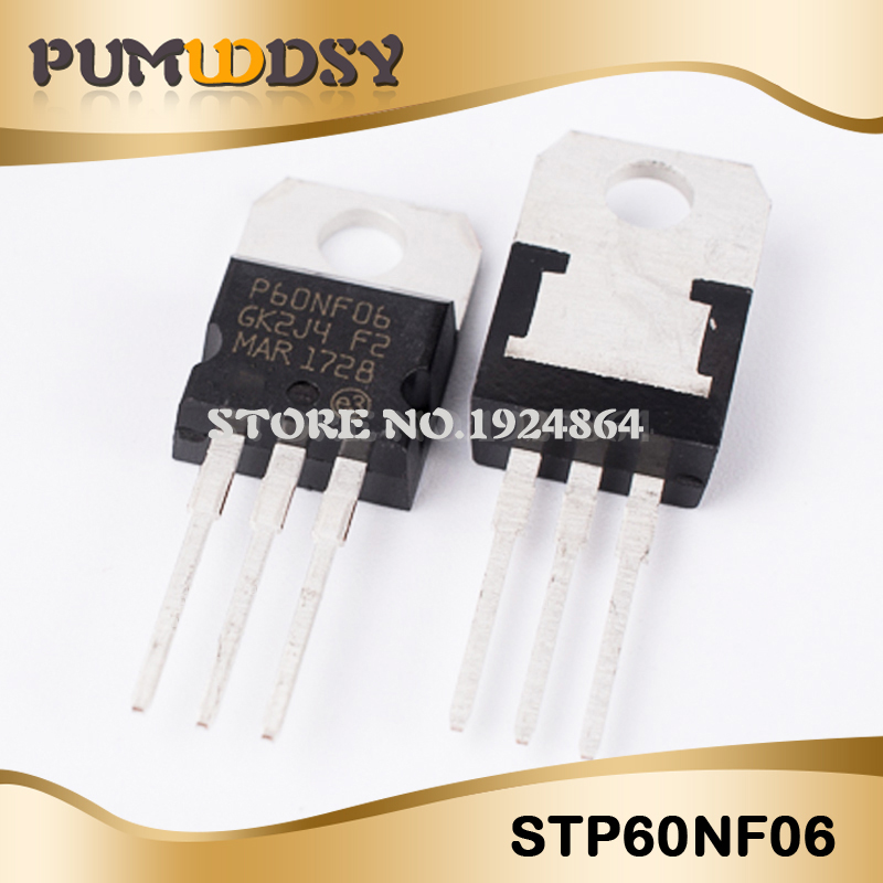 10pcs STP60NF06 <font><b>P60NF06</b></font> 60N06 60NF06 TO-220 integrated circuit IC image