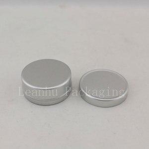 Image 2 - 10g X 200 puste próbki pojemnik na krem kosmetyczny aluminium, balsam do ust słoiki, trwałe perfumy butelki Jar cyny pojemniki do przechowywania Pot