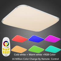 Modern LED Ceiling Light For Living Room RGB Remote Controlled Dimmable Home Fixtur Ceiling Lamp