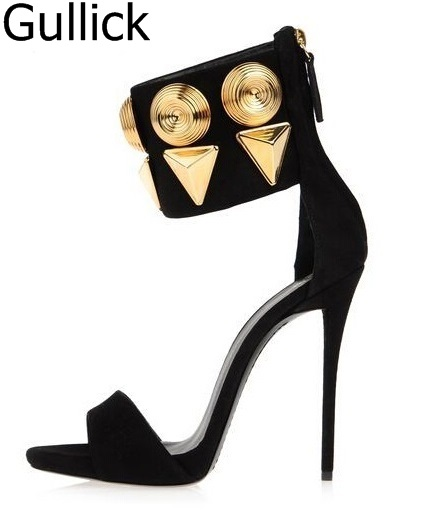 Fashion Summer Spring Dress Elegant Women Shoes Thin Super High Heels Solid Black Zipper Open Toe Women Sandals Free Ship elegant solid color halter open back maxi dress for women