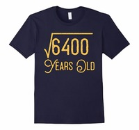 100 Cotton T Shirt For Boy Short Crew Neck 80Th Birthday Gift 80 Years Old Square