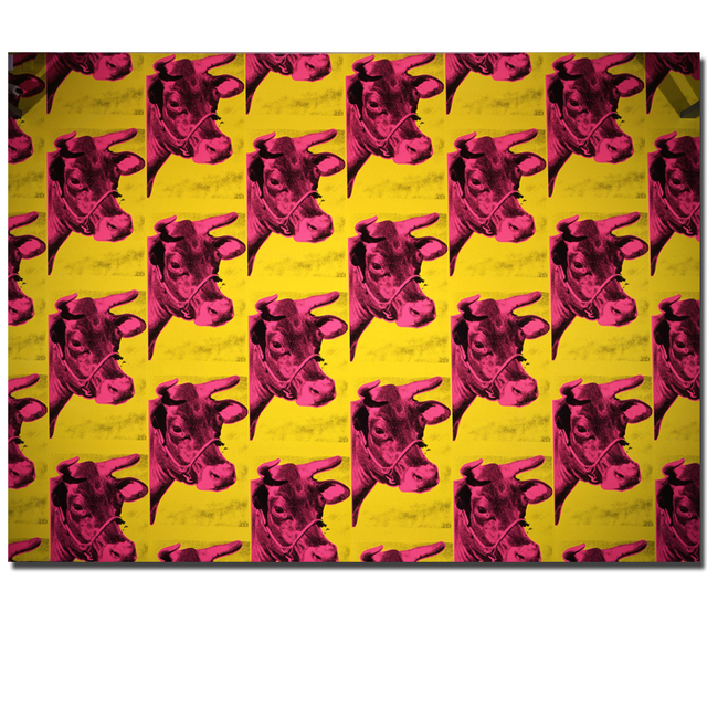 a41d8ae5ae0fc Andy Warhol Cow 1966 Yellow pop art print Painting Home Abstract Decorative  Art Prints Animal Abstract painting