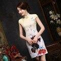 Summer style dress Cheongsam short sleeve Tang suit chi-pao Evening Dress Party Dress vestidos Size:S-3XL