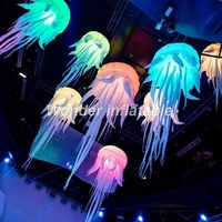 Giant 3mD hanging up 16colors led inflatable jellyfish balloon for wedding decoration