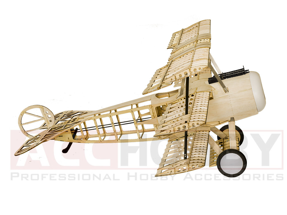 Balsawood Airplane Model Laser Cut Fokker de energía eléctrica DRI - Juguetes con control remoto - foto 3