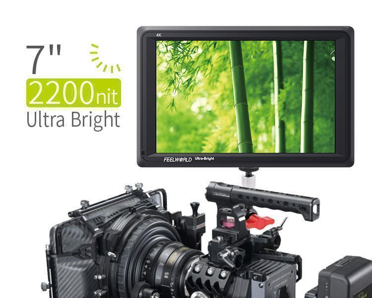 FEELWORLD FW279 7 Inch Ultra Bright 2200nit Daylight Viewable Camera Field Monitor 4K HDMI Input Output 1920X1200 IPS PanelFEELWORLD FW279 7 Inch Ultra Bright 2200nit Daylight Viewable Camera Field Monitor 4K HDMI Input Output 1920X1200 IPS Panel