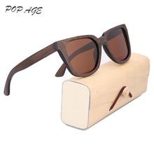 Madera gafas de Sol de Los Hombres gafas de sol 2017 Gafas de sol Mujer Marca Mujeres De Bambú Marco Marrón Gafas de Sol Polarizadas de Los Hombres 2016