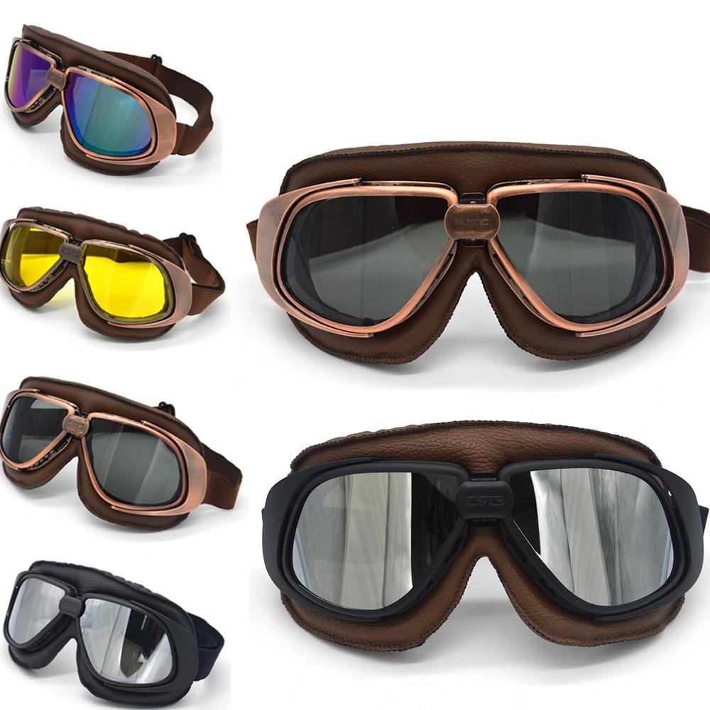 Motorcycle Goggles Pilot Motorbike Cycling Glasses For Harley Retro Jet Helmet Eyewear Ski Skate Snowboard