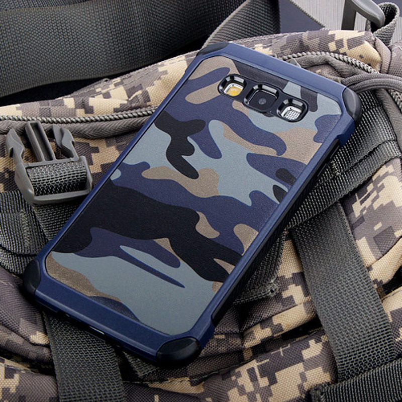 Army Camo Camouflage Pattern back cover TPU Armor Anti-knock case For Samsung Galaxy A5 2015 A500 & A510 A56 2016 & A520 2017