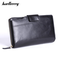 Baellerry Brand Wallet Men Wristlet Designer Large Capacity Men S Purse Genuine Leather Male Clutch Zipper