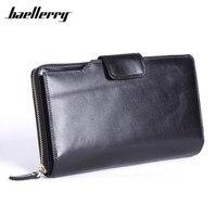 Baellerry Brand Wallet Men Wristlet Designer Large Capacity Men S Purse Genuine Leather Male Clutch Zipper