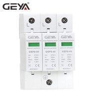 Free Shipping GEYA GSP8 3P Electric Surge Protector 275V 385V 400V 440V 40KA SPD House Surge Protector EU