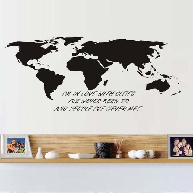 Im in love with cities creative world map wall sticker for kids im in love with cities creative world map wall sticker for kids room vinyl gumiabroncs Images
