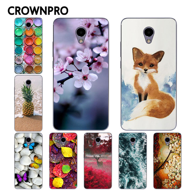 CROWNPRO Meizu M5 Note Case Cover Soft TPU Silicone Meilan Note 5 Painted Phone Back Protective Case FOR Meizu M5 Note Funda