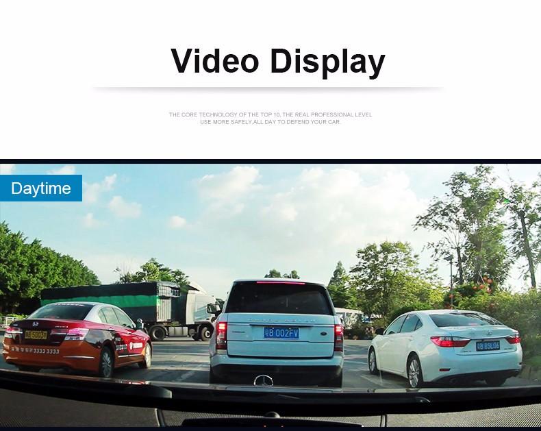 Jansite 1080P Car Dvr Blue Review Mirror Dual Lens Car Camera two cameras Loop record Recorder Auto Registrator Camcorder 25