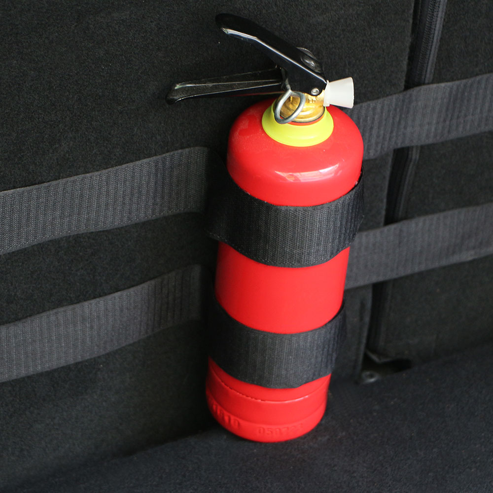 Cars Stickers Belts Car Trunk Storage Bag Magic Tapes Car Styling Fire Extinguisher Bandage Fixed Belt Bracket Stickers Straps