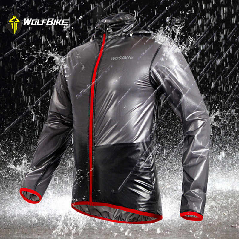 7bec3628ccf WOSAWE Outdoor Sports Waterproof Windproof Rain Coat Cycling Jackets Bike  Bicycle Running Jersey Ultralight Gray
