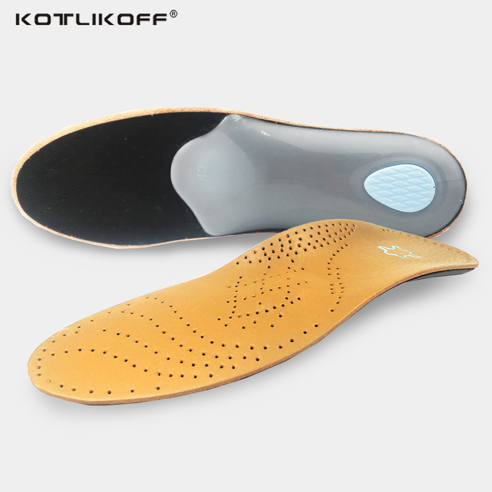 Leather Latex Orthopedic Foot Care Insole Antibacterial Active Carbon Orthotic Arch Support Instep Flat Foot Shoe Pad